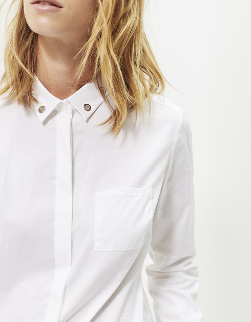 ikks-chemise-popeline-blanc